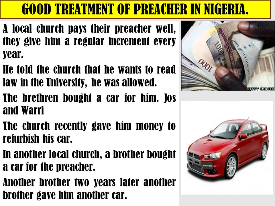 GOOD TREATMENT OF PREACHER IN NIGERIA.