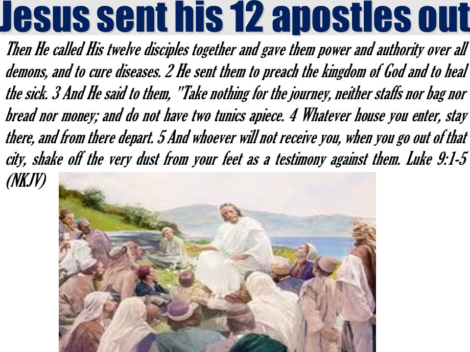 Then He called His twelve disciples together and gave them power and authority over all demons, and to cure diseases.