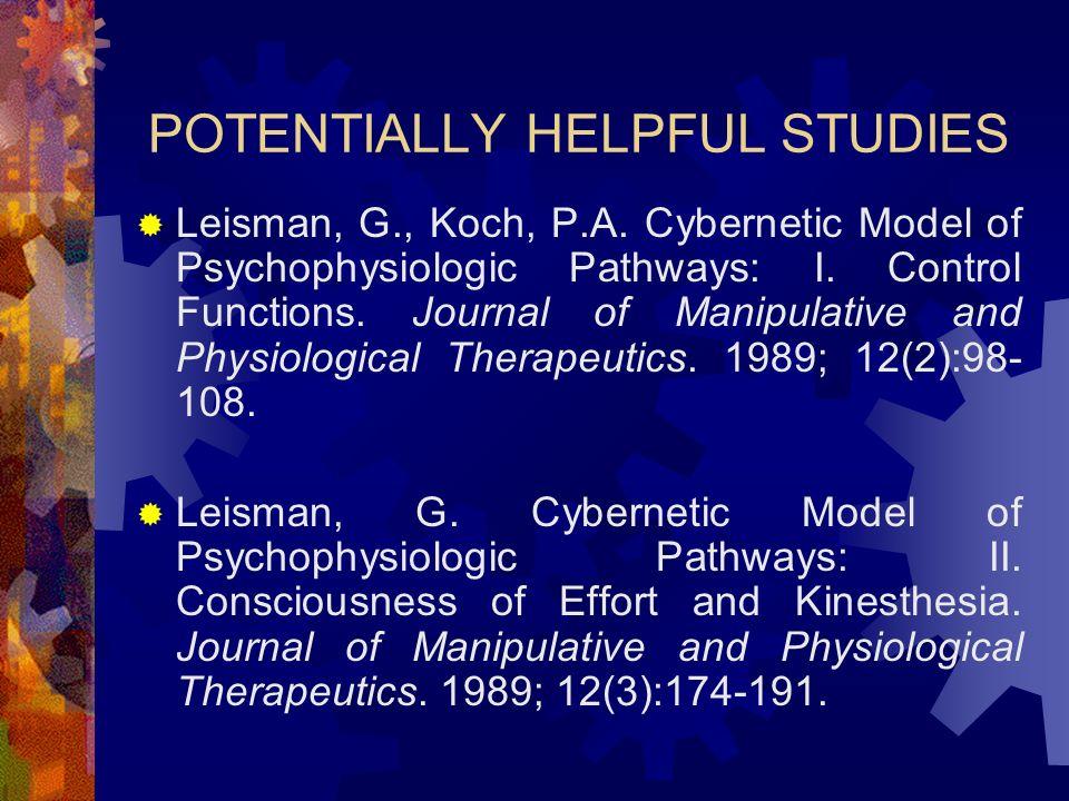 POTENTIALLY HELPFUL STUDIES Leisman, G., Koch, P.A.