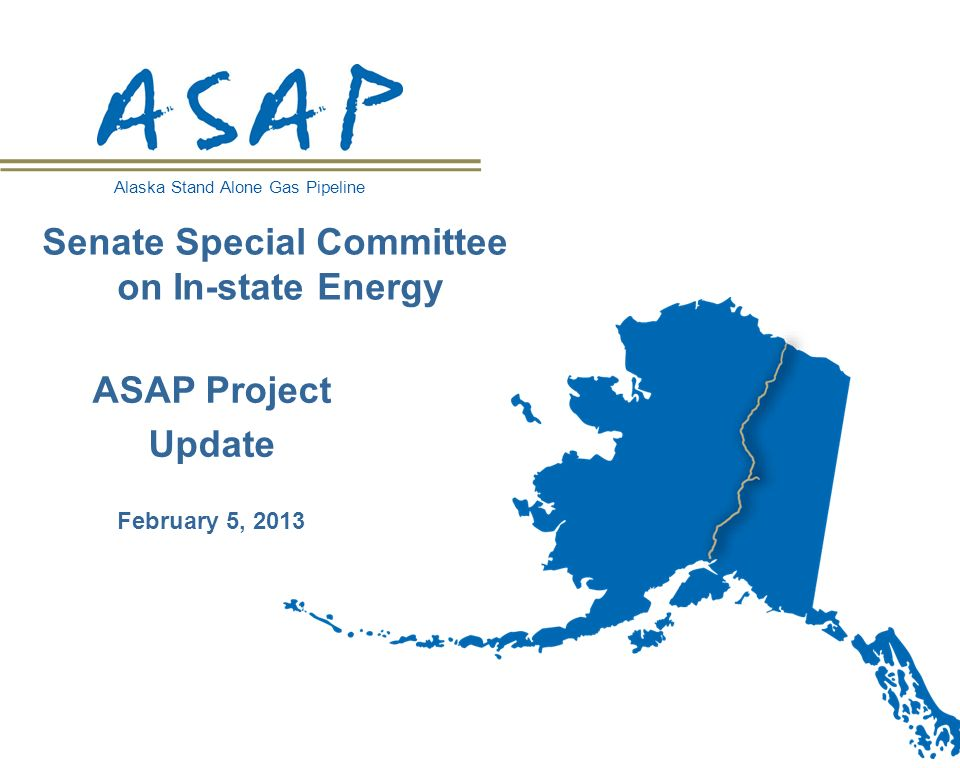 Cost to Alaskans: $400M up-front cost to be recovered through gas royalty and taxes Cost Benefit: Long term natural gas supply for Alaskans Project Cost: $7.7 Billion* in 2012 dollars, +/- 30% Cost of Gas to Consumers (burner tip) 12 ASAP Costs AnchorageFairbanks Optimized $ 9 - 11.25/MMBtu in 2012 dollars Base case $ 9.63/MMBtu in 2011 dollars Optimized $ 8.25 - 10/MMBtu in 2012 dollars Base Case $ 10.45/MMBtu in 2011 dollars *Each year the project is delayed, 2.5% inflation is added to the cost of the project