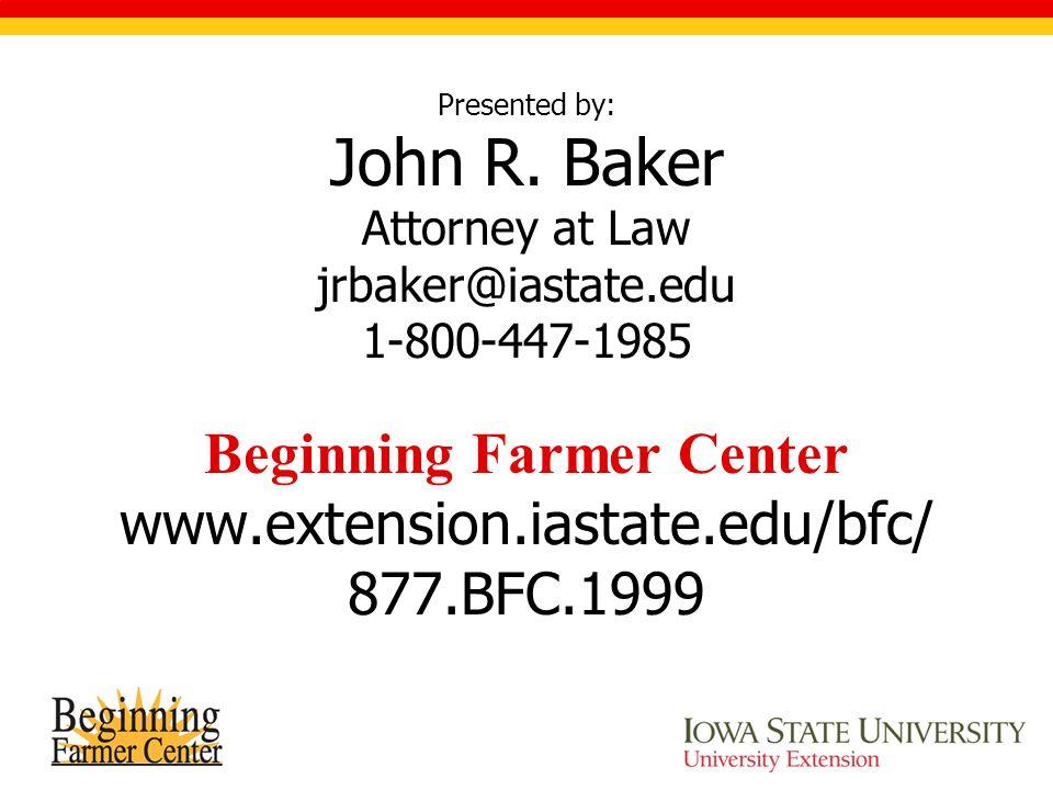 Presented by: John R.