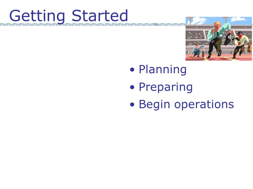 Getting Started Planning Preparing Begin operations