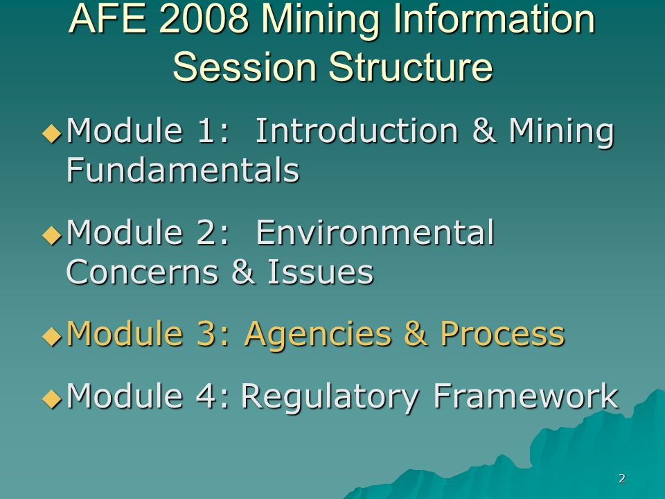 13 EPA Mining Team Established since 1995 Established since 1995 Includes staff from core program and technical areas that work on mining activities Includes staff from core program and technical areas that work on mining activities Team principles: Team principles: –Early involvement –Cross-programmatic multi-disciplinary team –Work in partnership with other involved agencies, tribes, industry, and NGOs –Programs operate in parallel