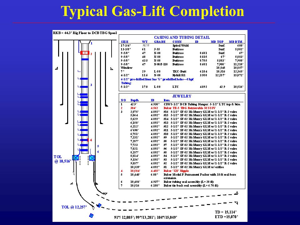Typical Gas-Lift Completion