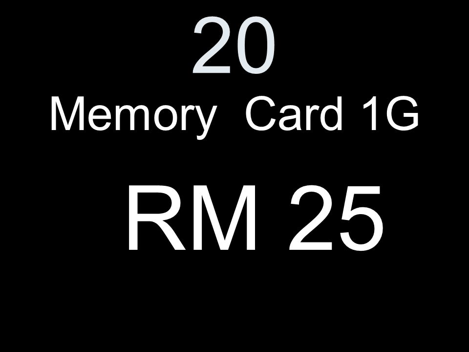 20 Memory Card 1G RM 25