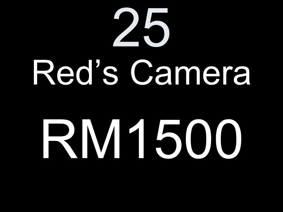 25 Reds Camera RM1500
