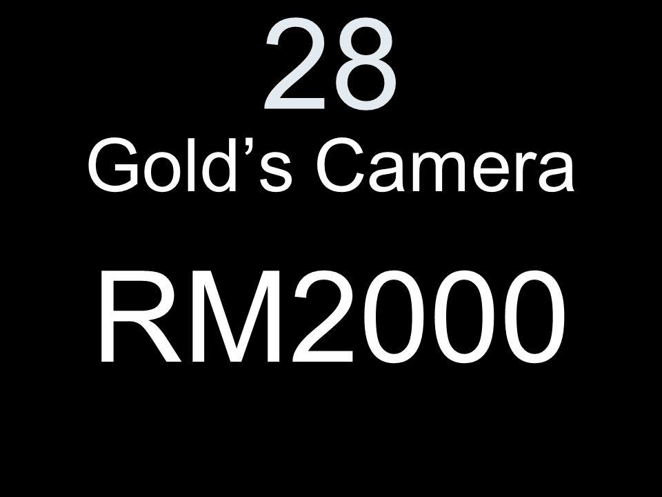 28 Golds Camera RM2000