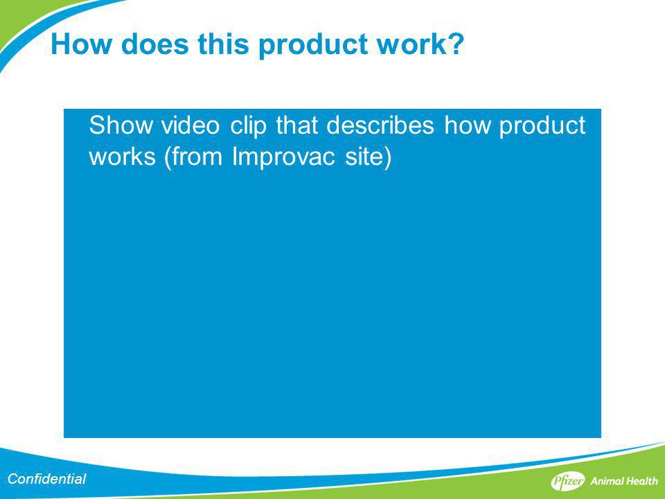 Confidential How does this product work? Show video clip that describes how product works (from Improvac site)
