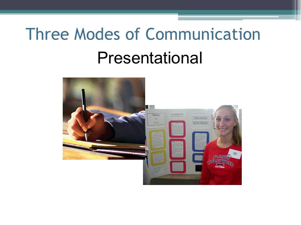 Three Modes of Communication Presentational