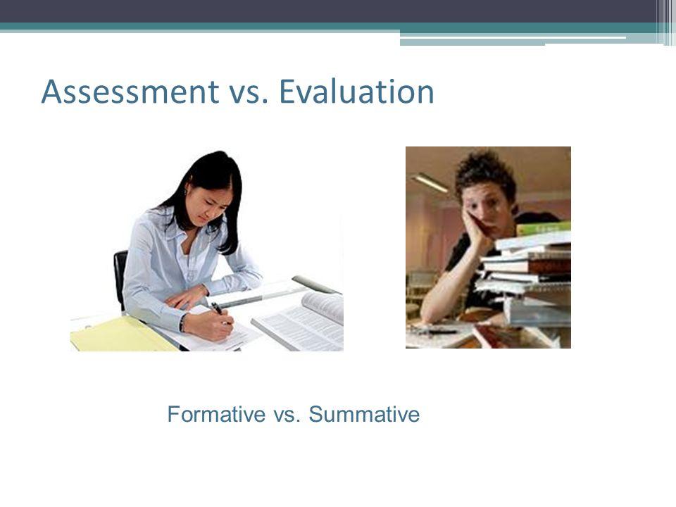 Assessment vs. Evaluation Formative vs. Summative