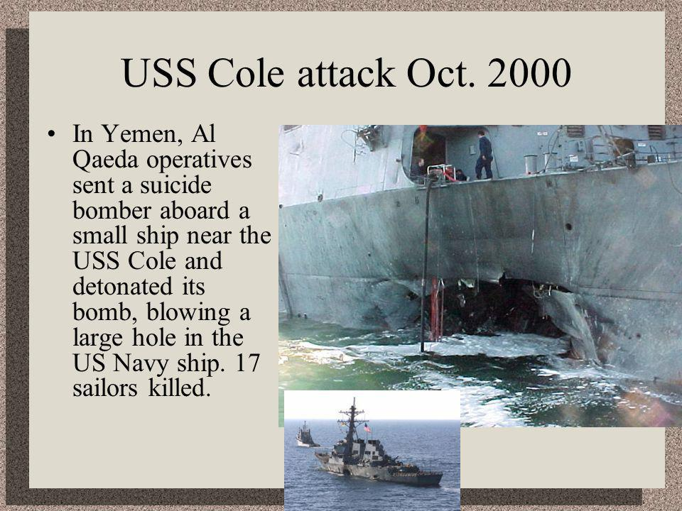 USS Cole attack Oct.