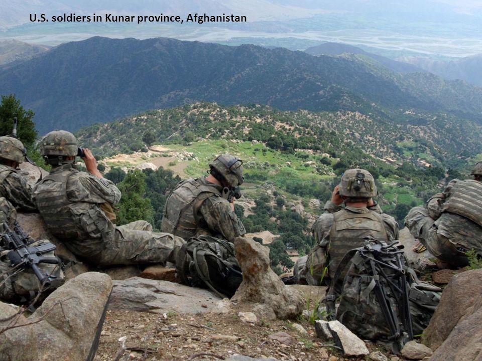 U.S. soldiers in Kunar province, Afghanistan