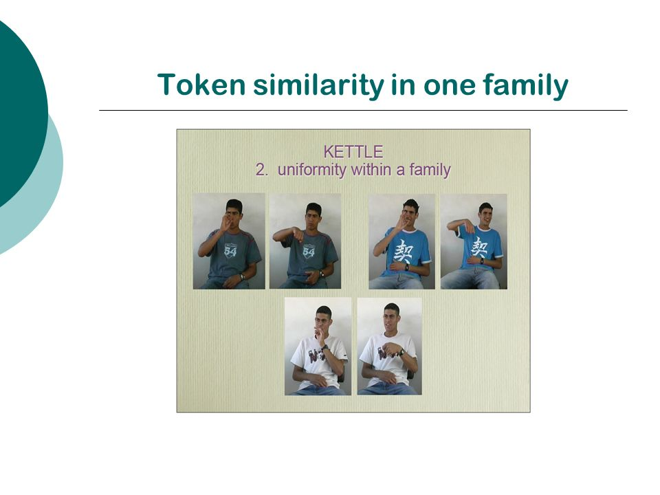 Token similarity in one family