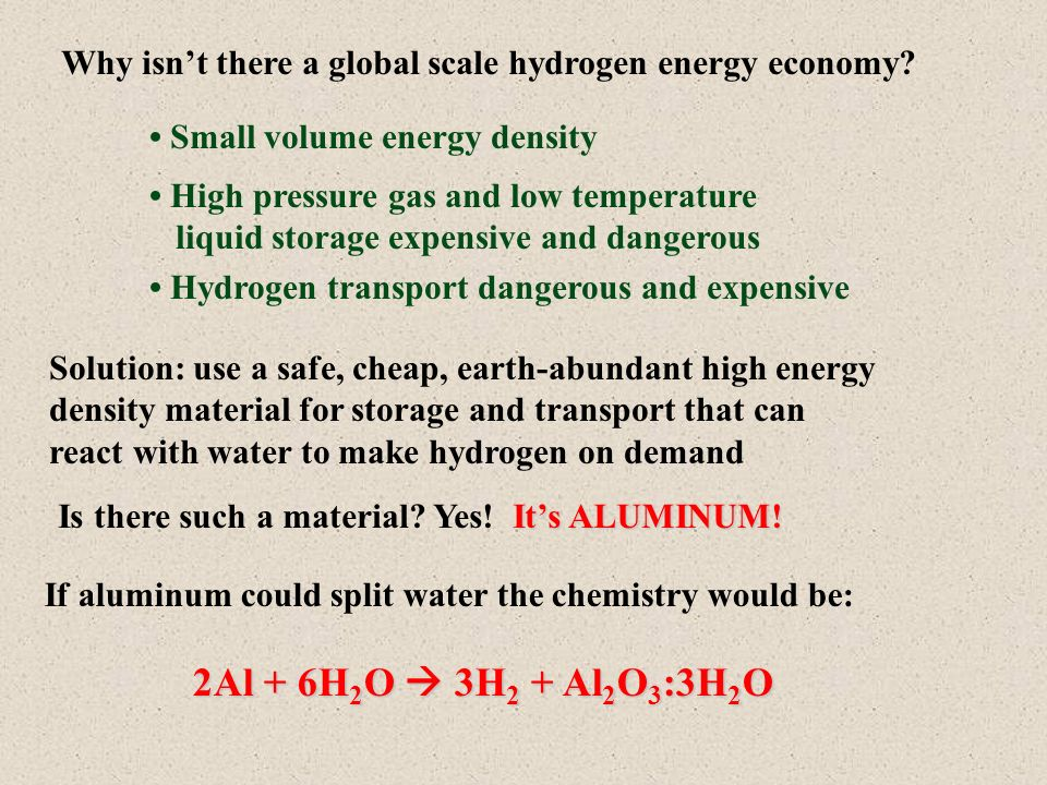 Why isnt there a global scale hydrogen energy economy.
