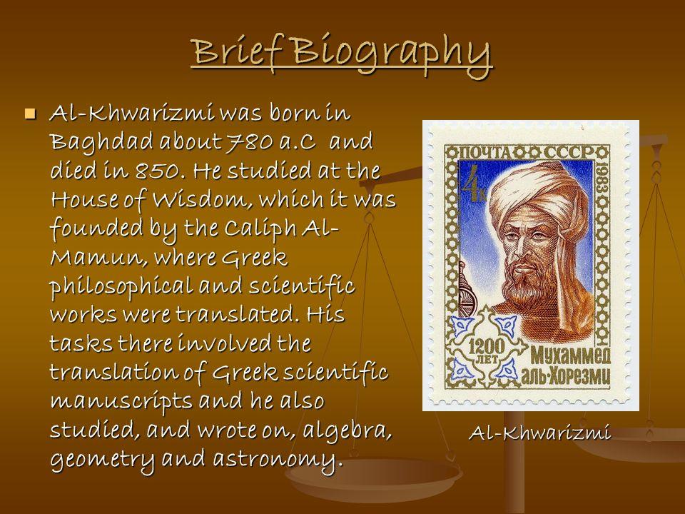 Al-Khwarizmi The founder of Algebra