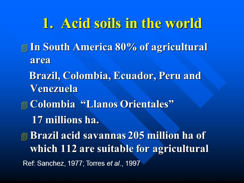2.What are the acid soils.