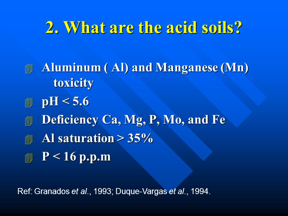 2. What are the acid soils.
