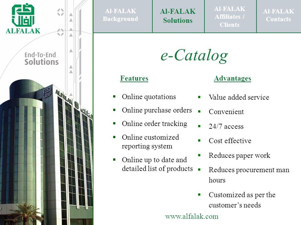 Al-FALAK Affiliates / Clients Al-FALAK Solutions Al-FALAK Contacts www.alfalak.com Al-FALAK Background Al-FALAK Affiliates / Clients Al-FALAK Solution