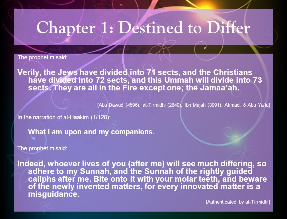 Chapter 1: Destined to Differ Are We to Surrender to Fate.