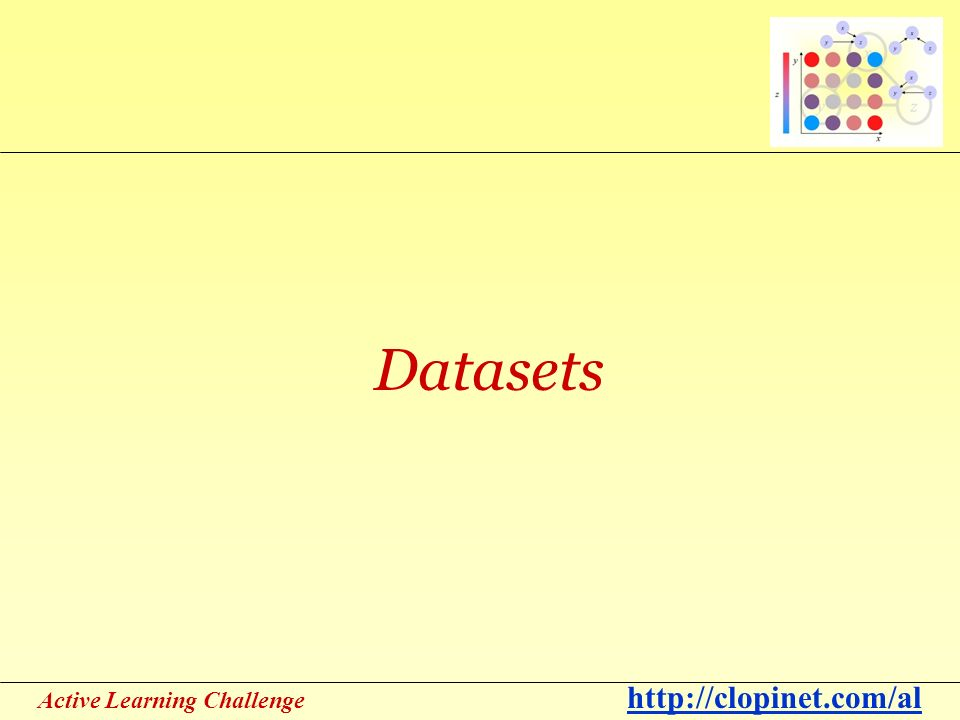 Active Learning Challenge   Datasets