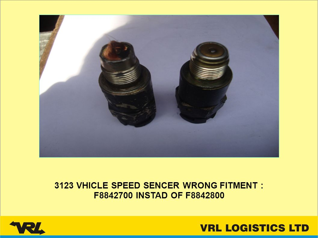 3123 VHICLE SPEED SENCER WRONG FITMENT : F8842700 INSTAD OF F8842800