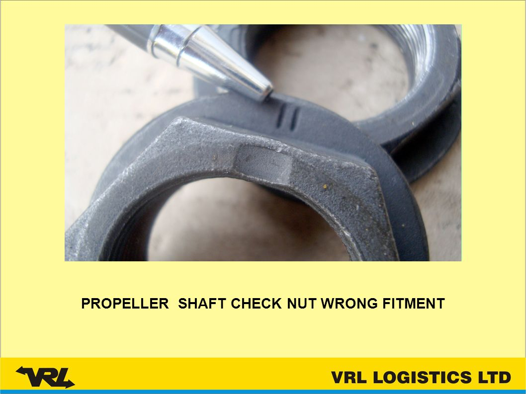 PROPELLER SHAFT CHECK NUT WRONG FITMENT
