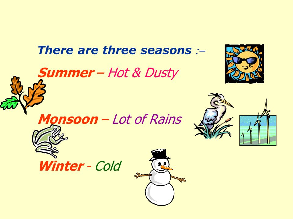 The temperature conditions around us determine the weather for that particular day.