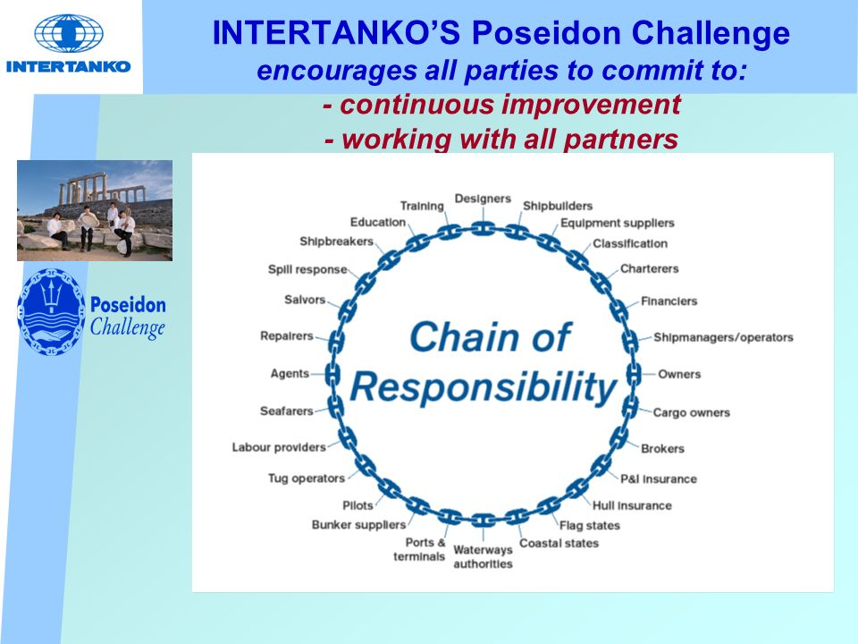 INTERTANKOS Poseidon Challenge encourages all parties to commit to: - continuous improvement - working with all partners