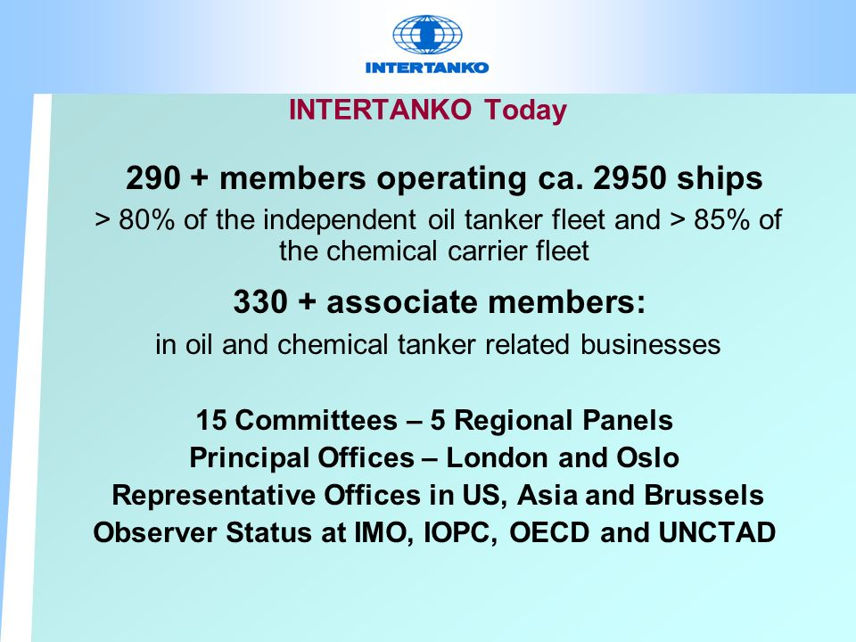 INTERTANKO Today members operating ca.