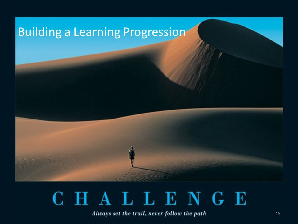 Building a Learning Progression 16