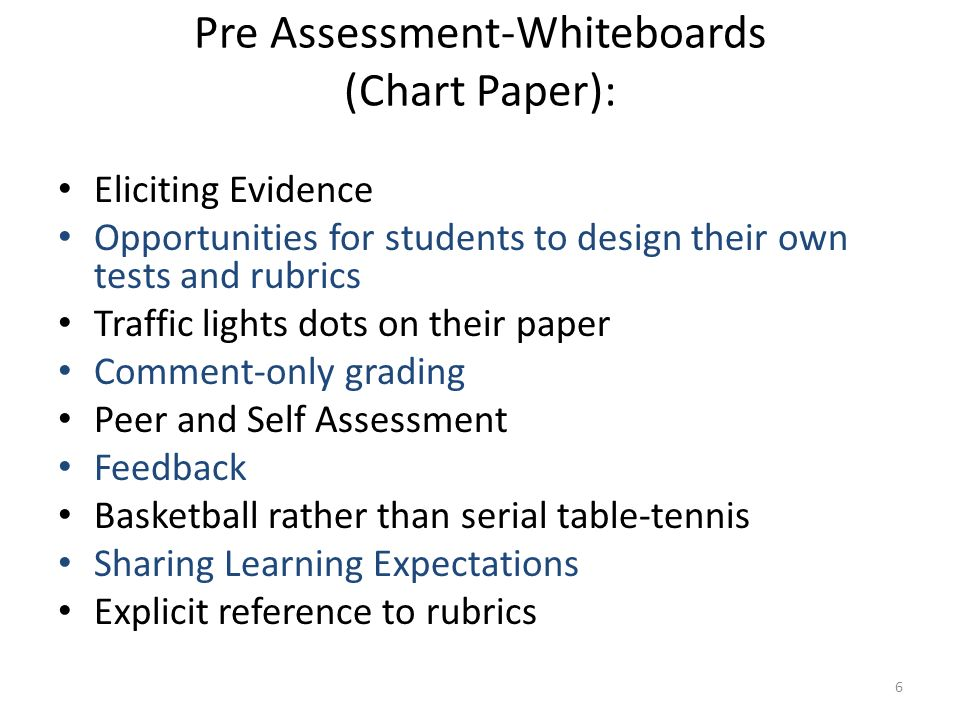 Why Assessment for Learning.