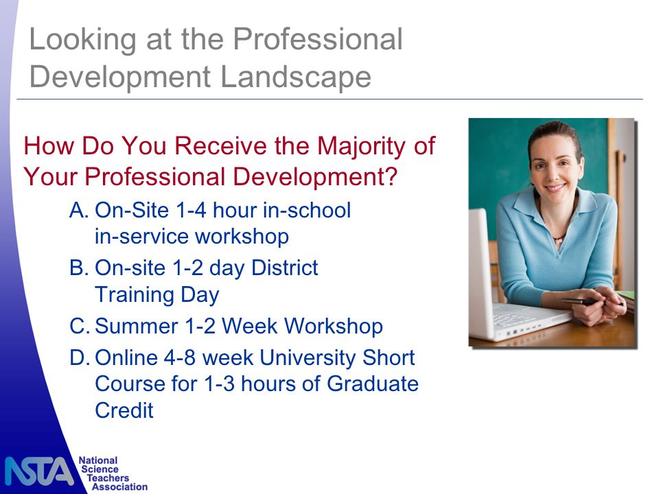 How Do You Receive the Majority of Your Professional Development.