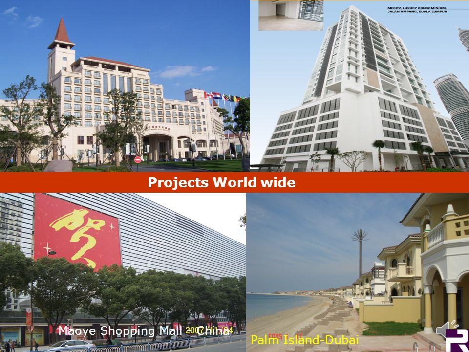 Projects World wide Maoye Shopping Mall - China Palm Island-Dubai