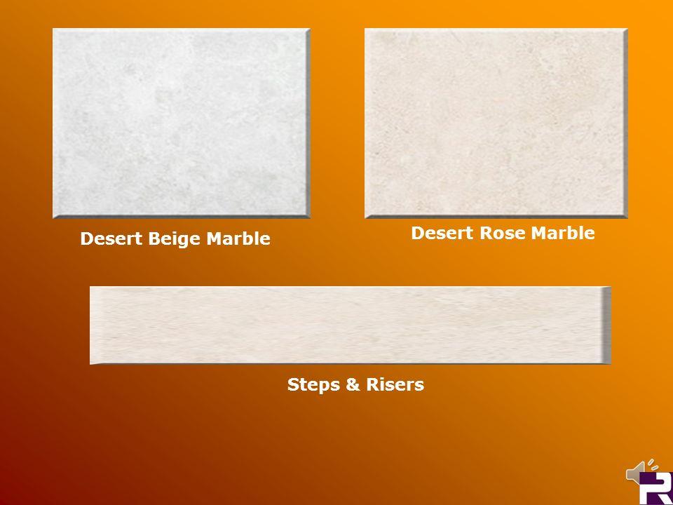 Desert Rose Marble Desert Beige Marble Steps & Risers