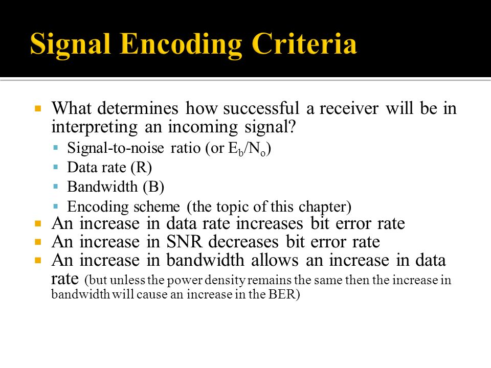 What determines how successful a receiver will be in interpreting an incoming signal.