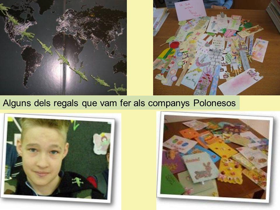 Alguns dels regals que vam fer als companys Polonesos