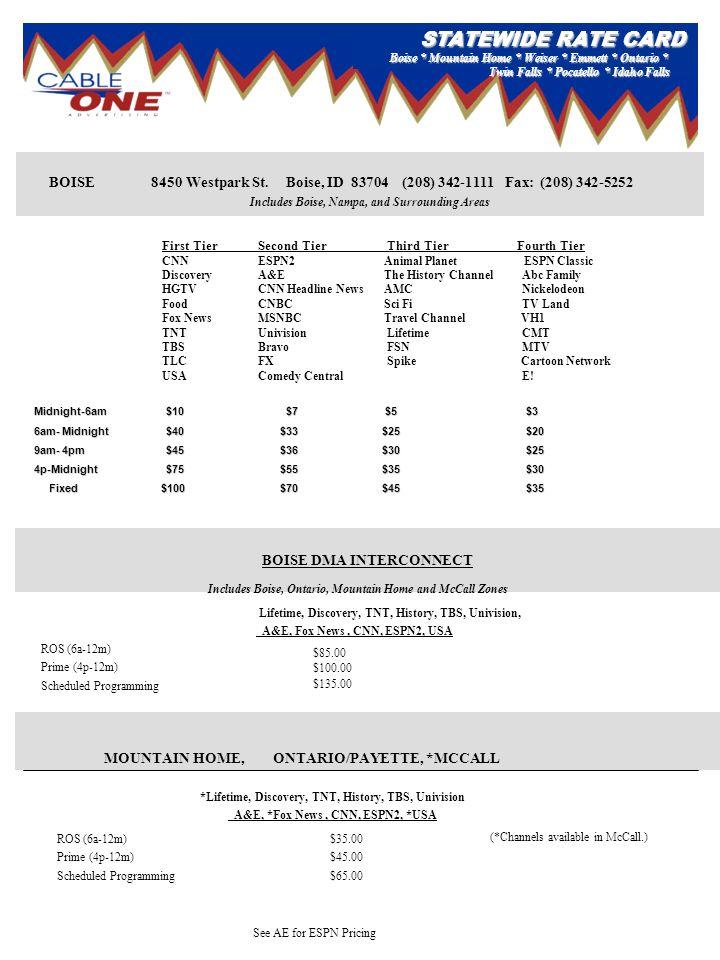 BOISE DMA INTERCONNECT BOISE 8450 Westpark St.