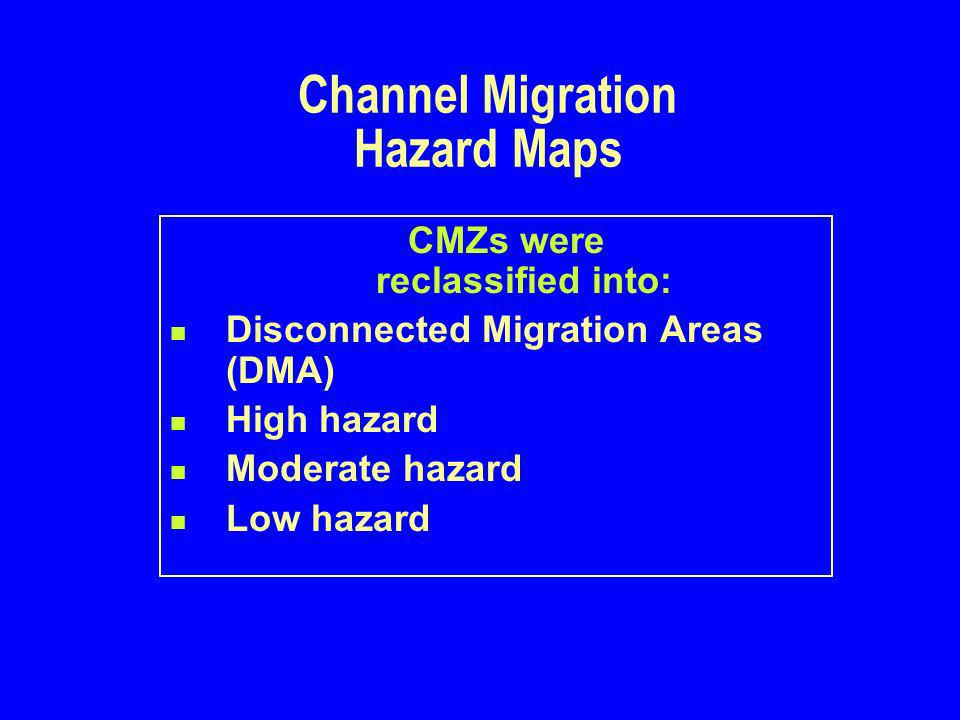 Hazard Delineation Geomorphic channel type Type of channel migration lateral avulsions Sediment regime transport deposition Constraints on channel migration