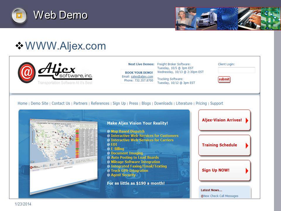 1/23/2014 Web Demo WWW.Aljex.com
