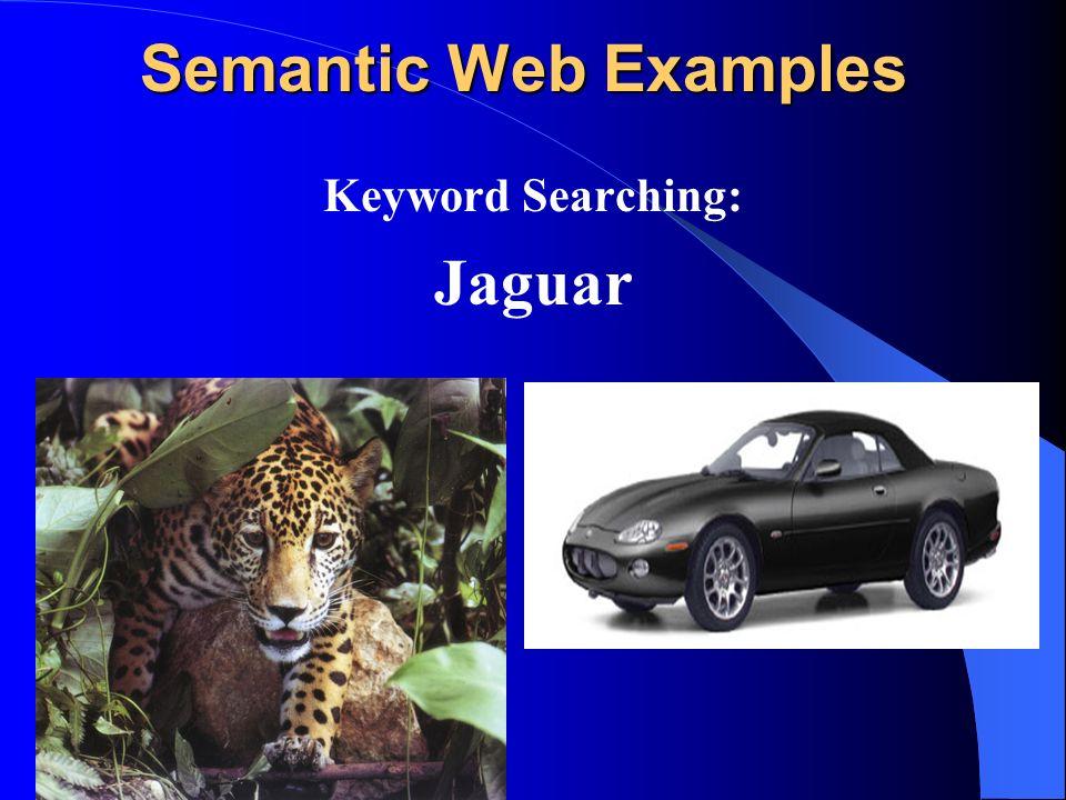 Semantic Web Examples Keyword Searching: Jaguar