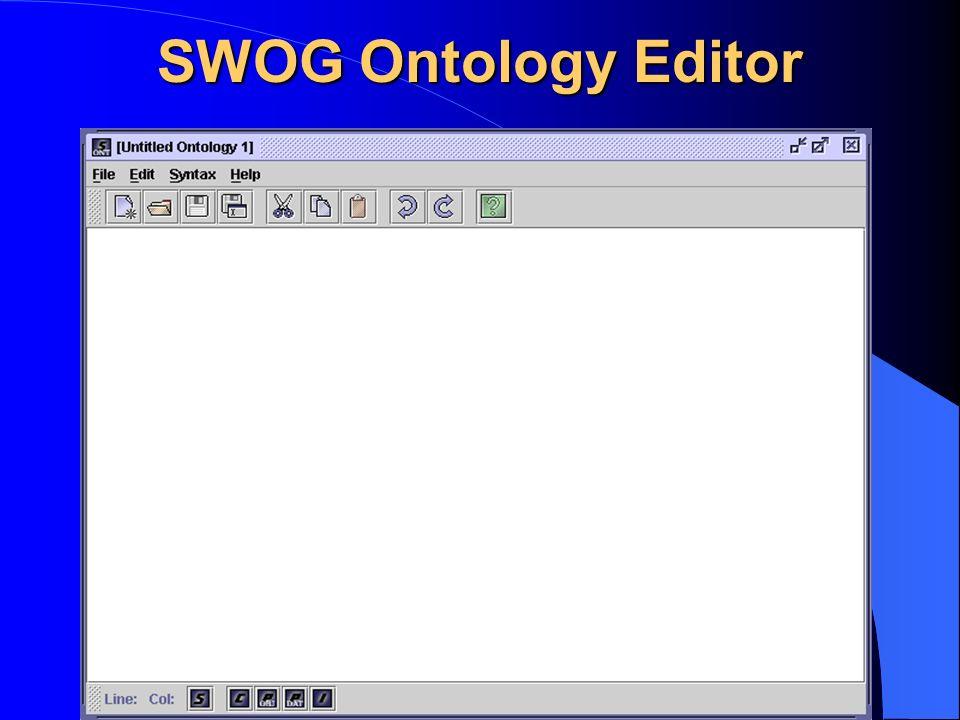 SWOG Ontology Editor