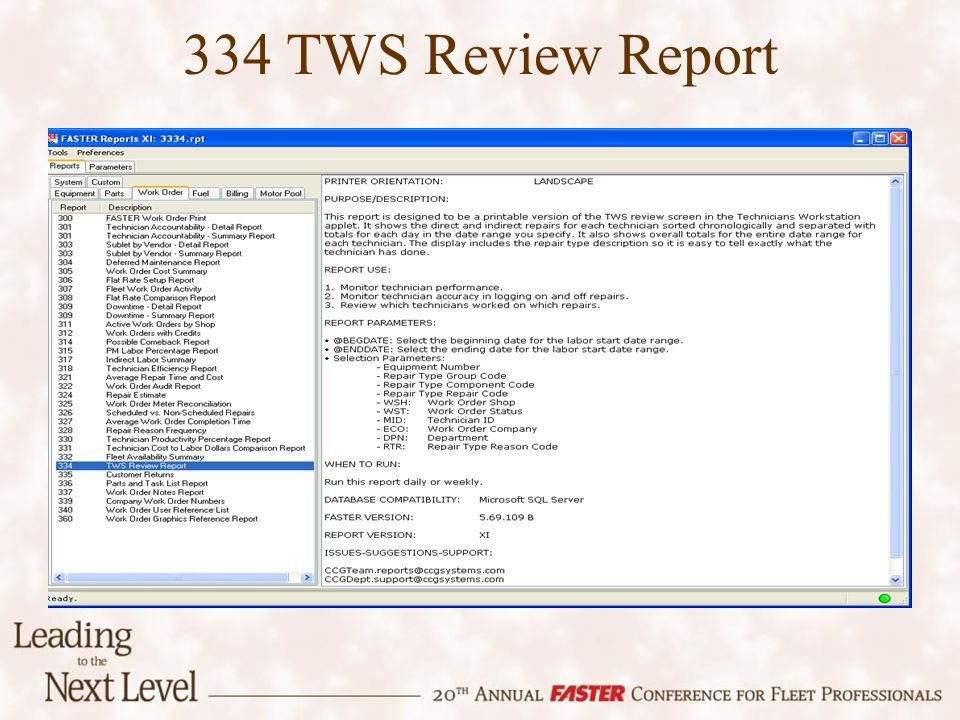 334 TWS Review Report