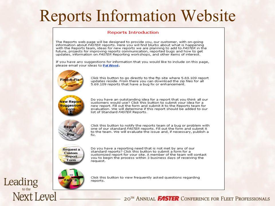 Reports Information Website