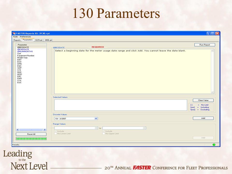 130 Parameters