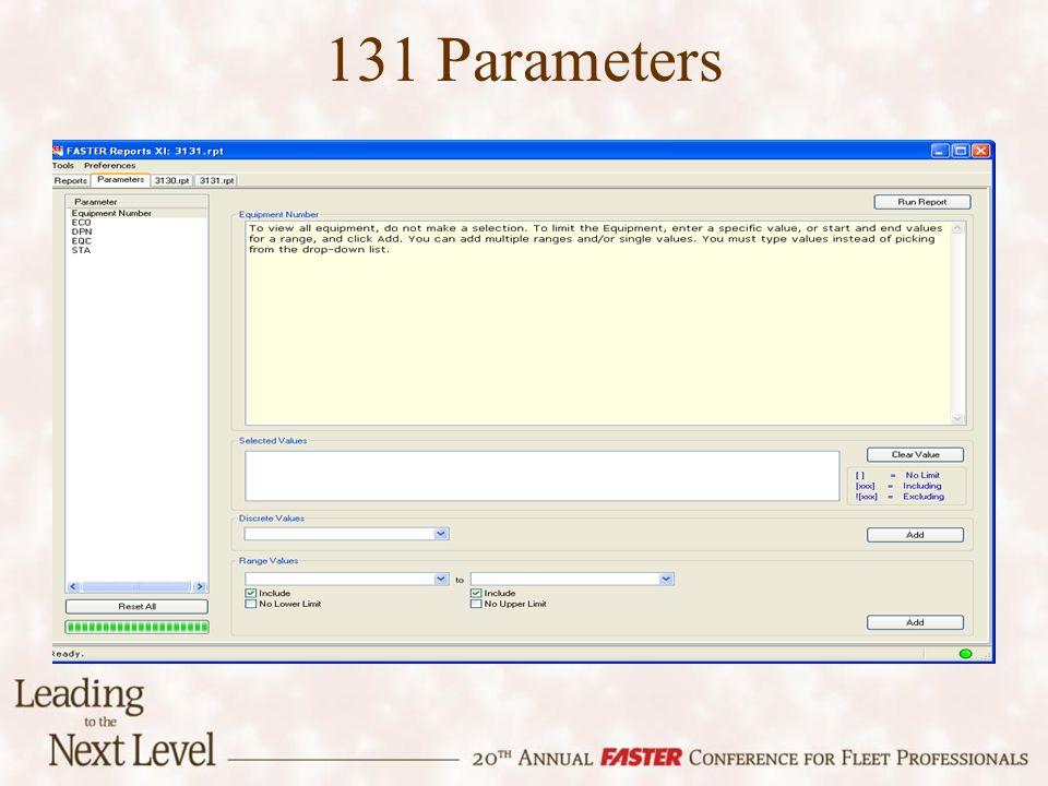 131 Parameters