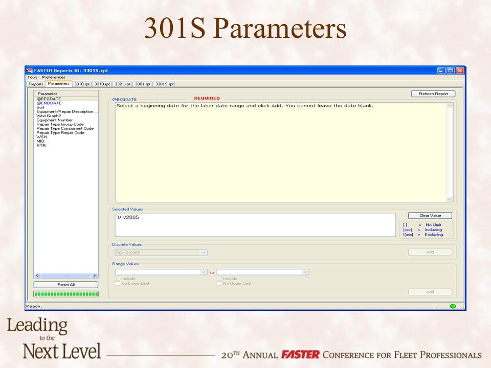 301S Parameters