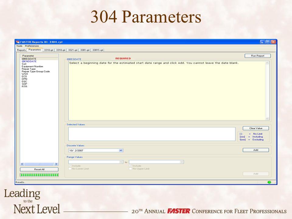 304 Parameters