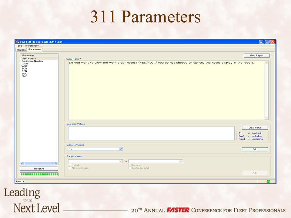 311 Parameters