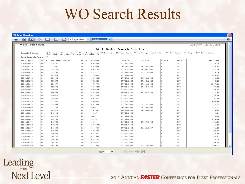 WO Search Results