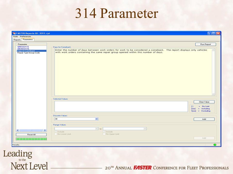 314 Parameter